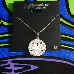 """18"""" Sterling Silver Sand Dollar Necklace"""